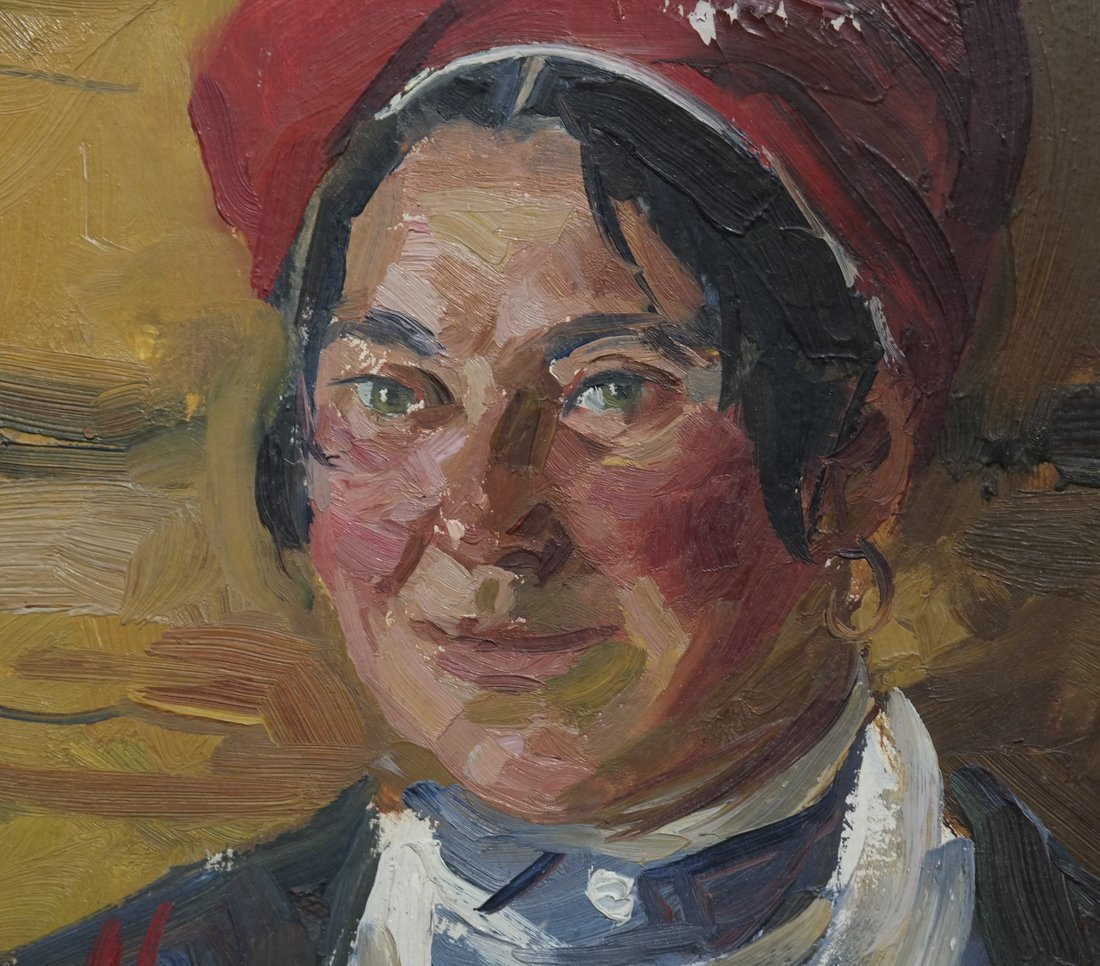 Modern Portrait of a Lady, Oil on Canvas - 5
