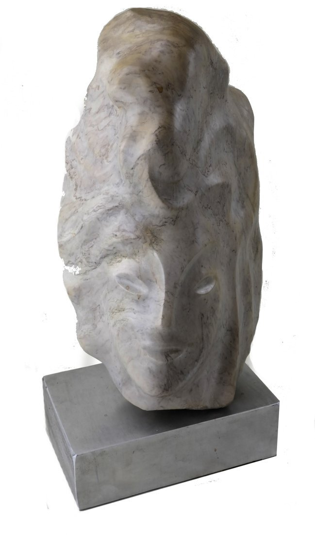 Ciuca, Alabaster Head Sculpture