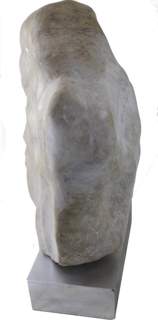 Ciuca, Alabaster Head Sculpture - 4