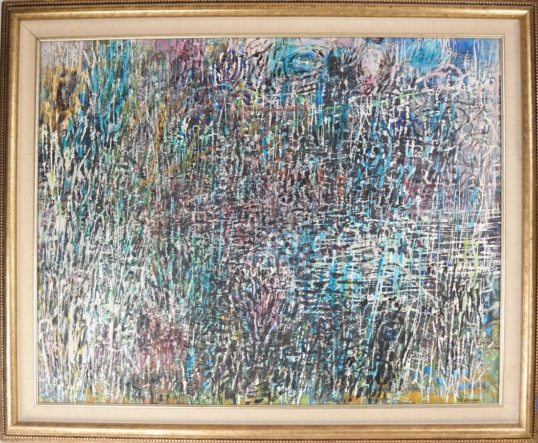 Devoucoux, Abstract - Oil on Canvas - 2