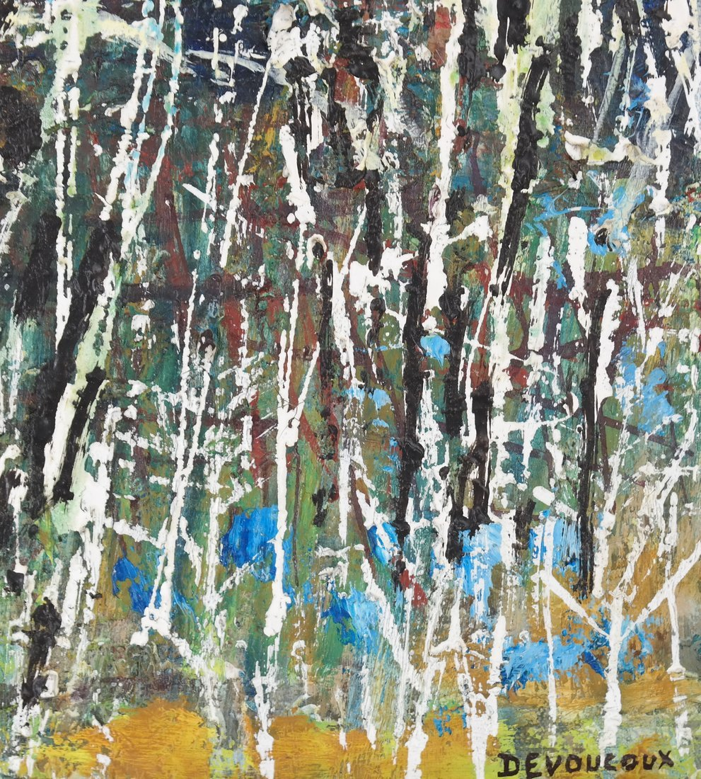 Devoucoux, Abstract - Oil on Canvas - 4