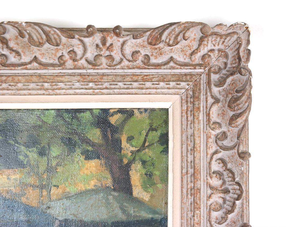 Impressionist Cafe Scene, Oil on Canvas - 4