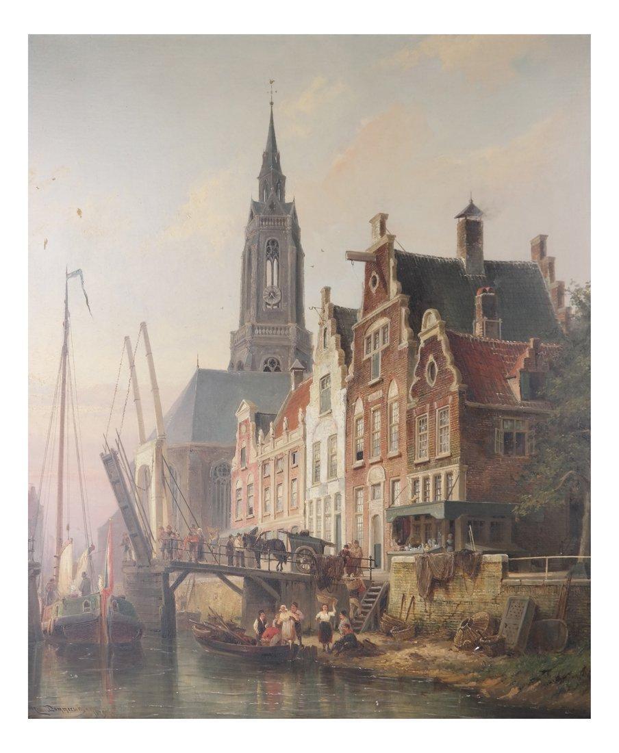 P.C. Demmersen, Village Canal Scene