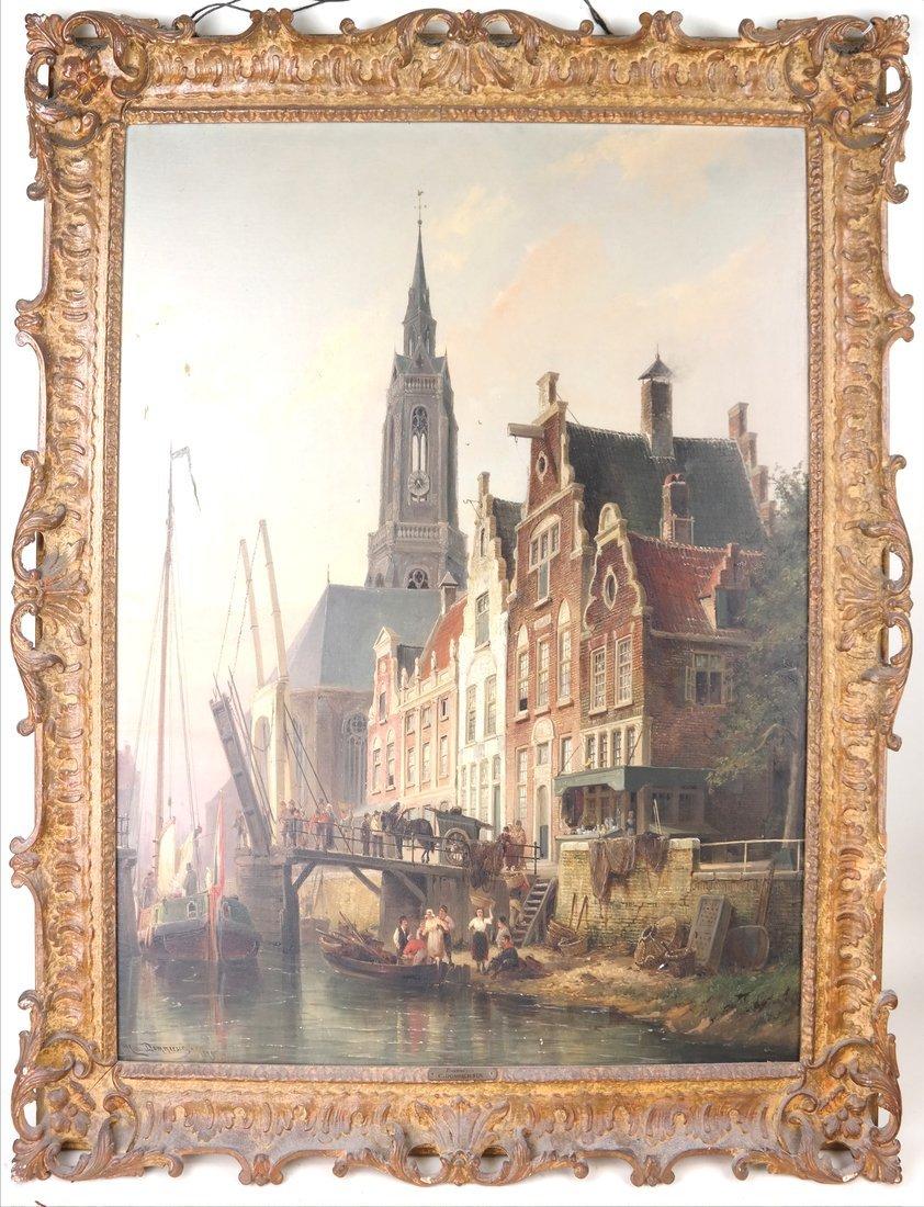 P.C. Demmersen, Village Canal Scene - 2
