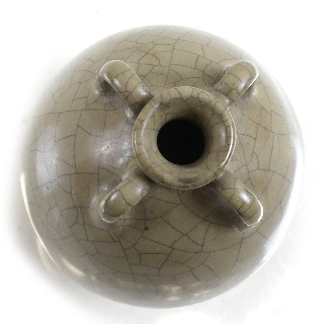 Celadon Crackleware Vase - 4