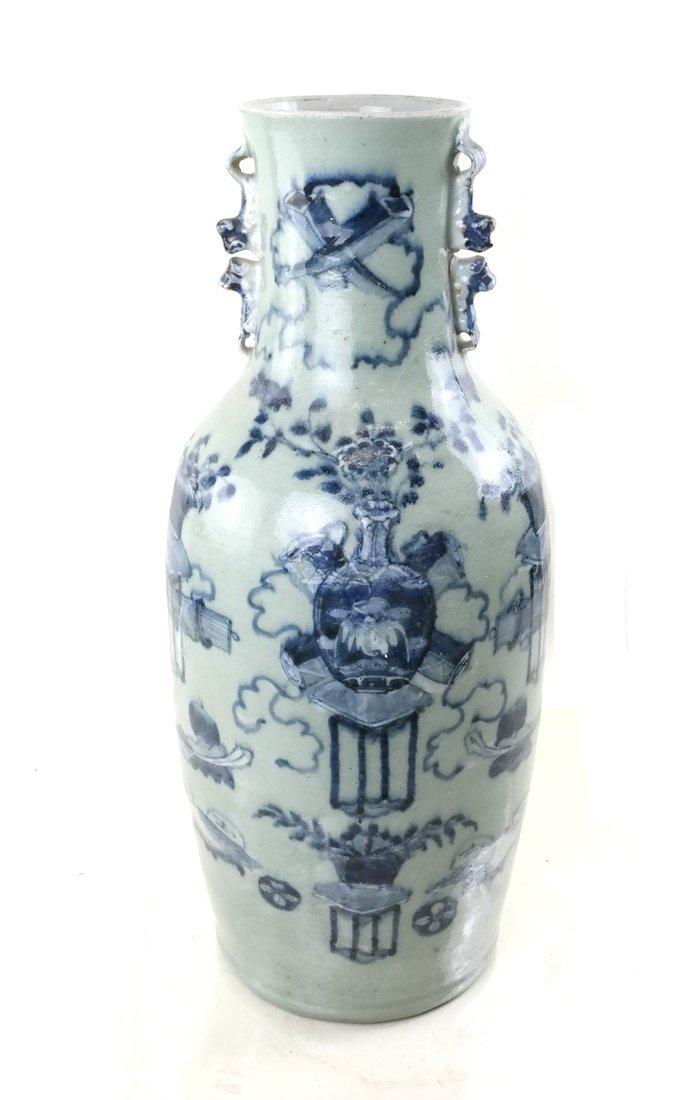 Celadon Decorated Vase