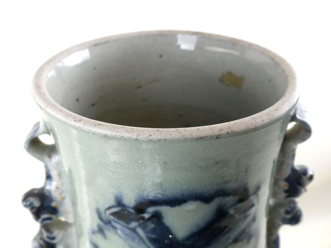 Celadon Decorated Vase - 4