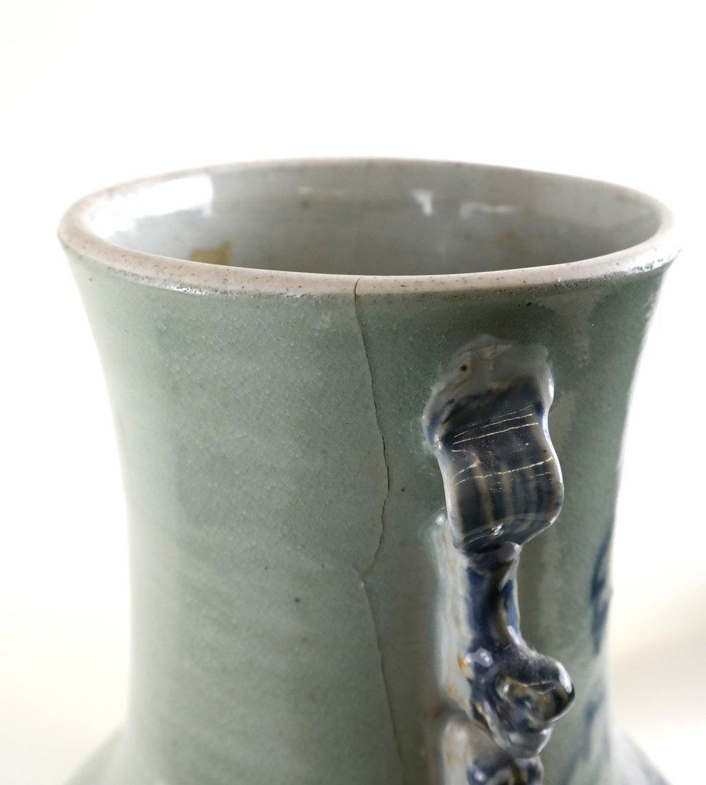 Celadon Decorated Vase - 6