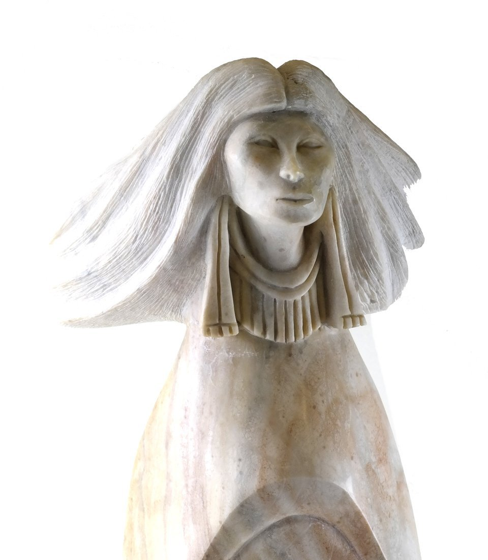 Robert Garcia, Alabaster Female Sculpture - 2