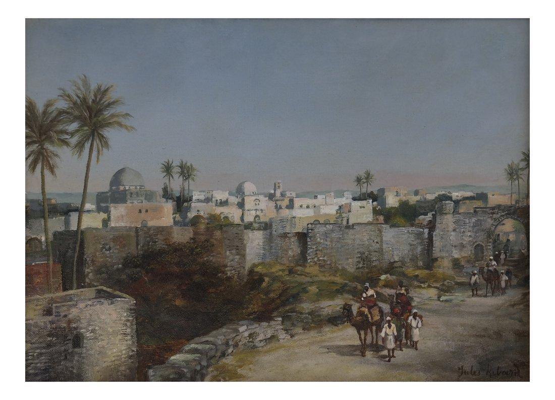 Jules Ribard, Arab Village Scene