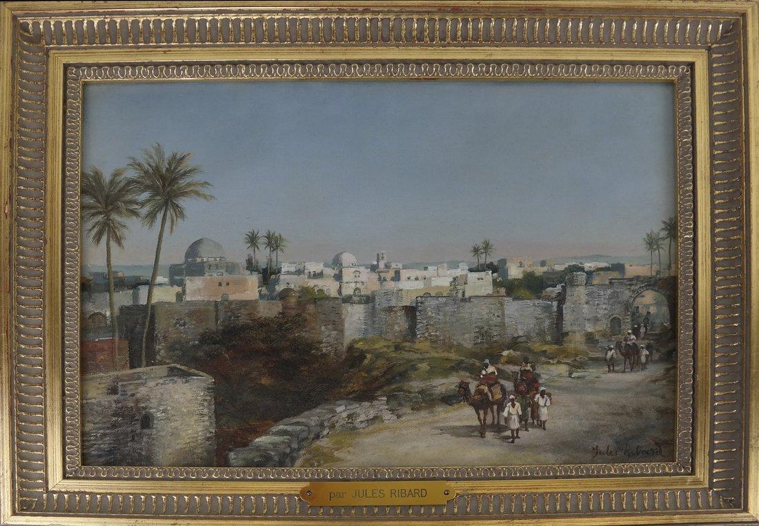 Jules Ribard, Arab Village Scene - 3