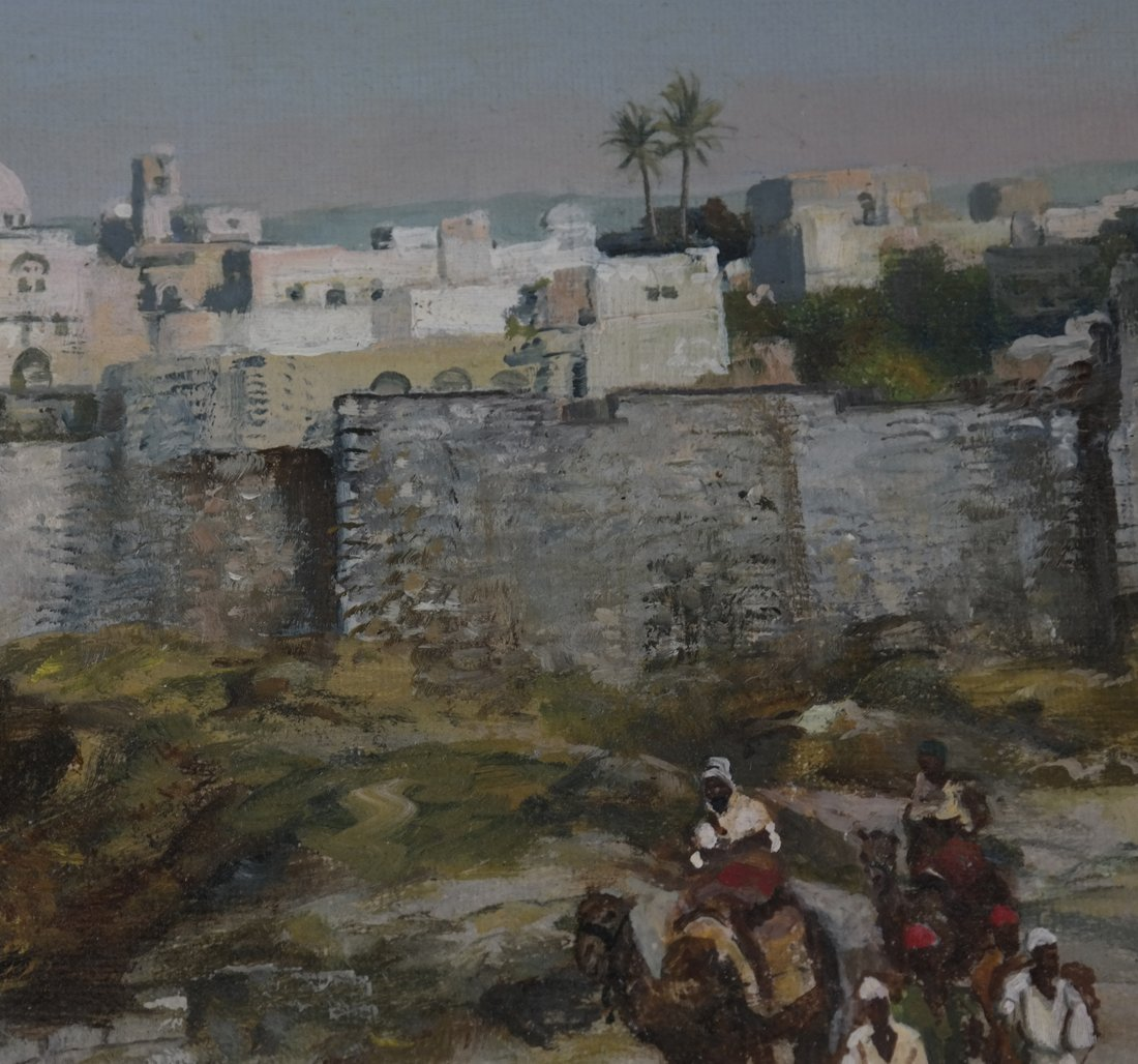 Jules Ribard, Arab Village Scene - 4
