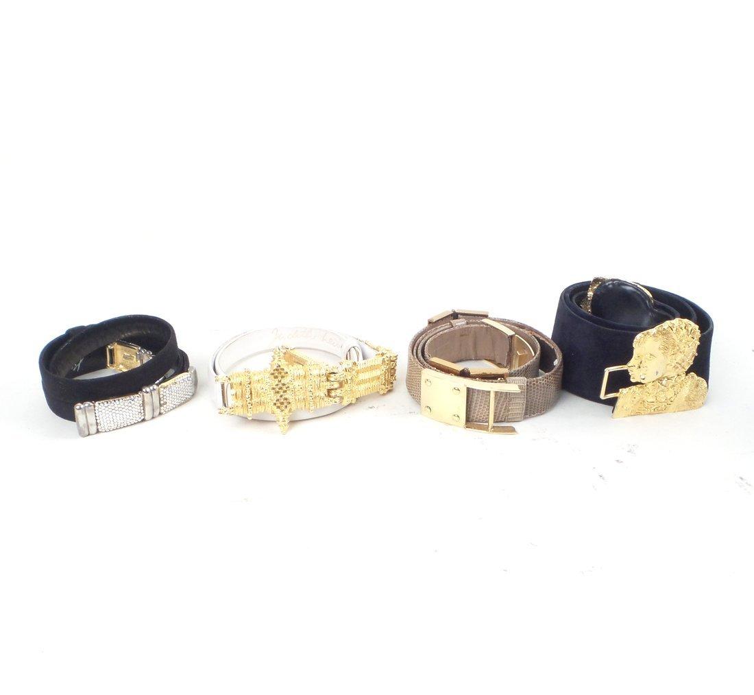 Four Judith Lieber Belts