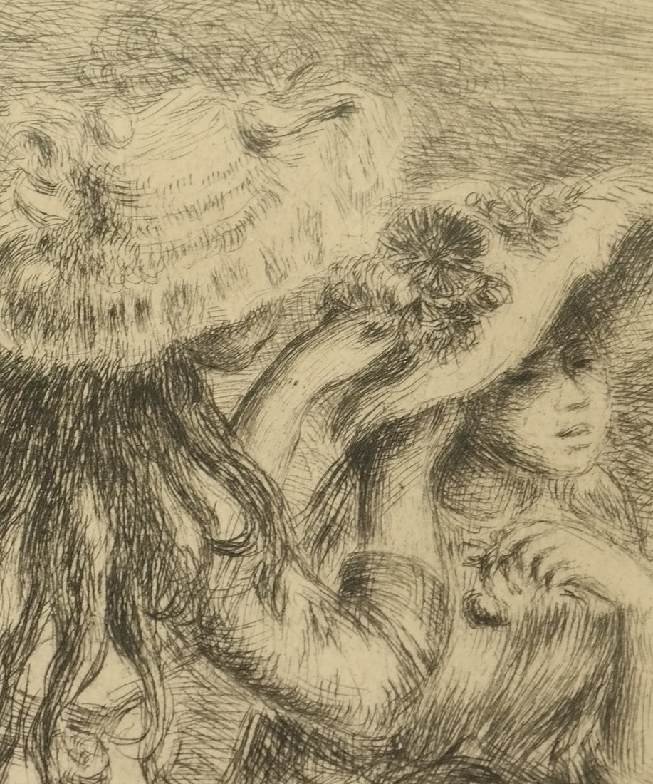 Etching After Renoir, Two Girls - 3