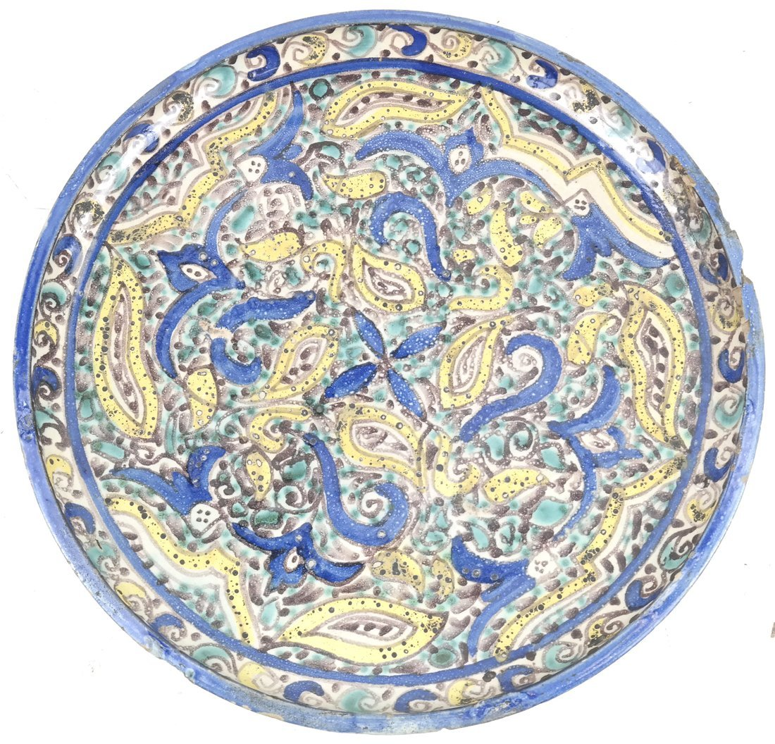 Persian-Style Pottery Charger - 4