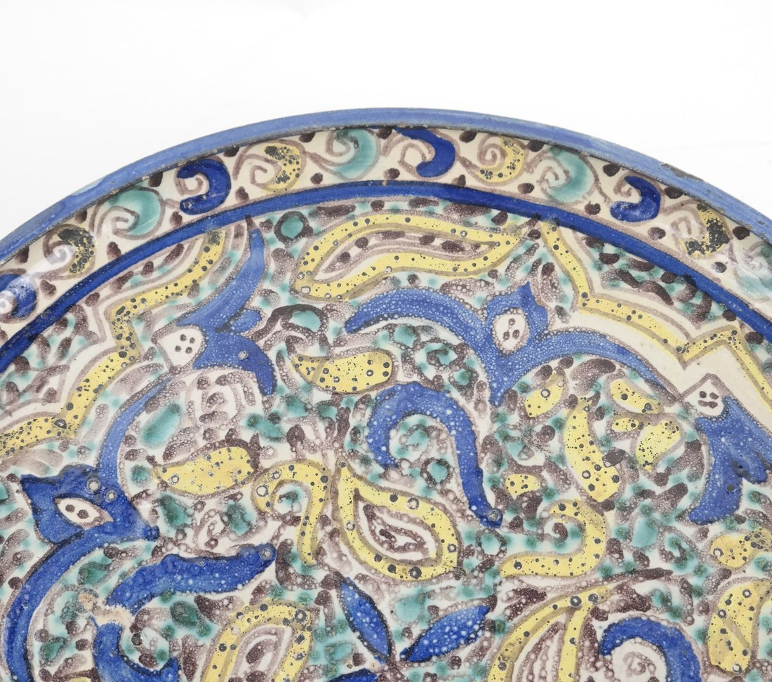Persian-Style Pottery Charger - 5