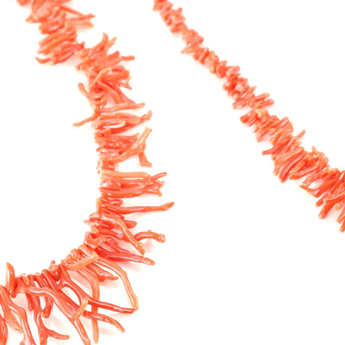 Two Strands of Oxblood Branch Coral - 4