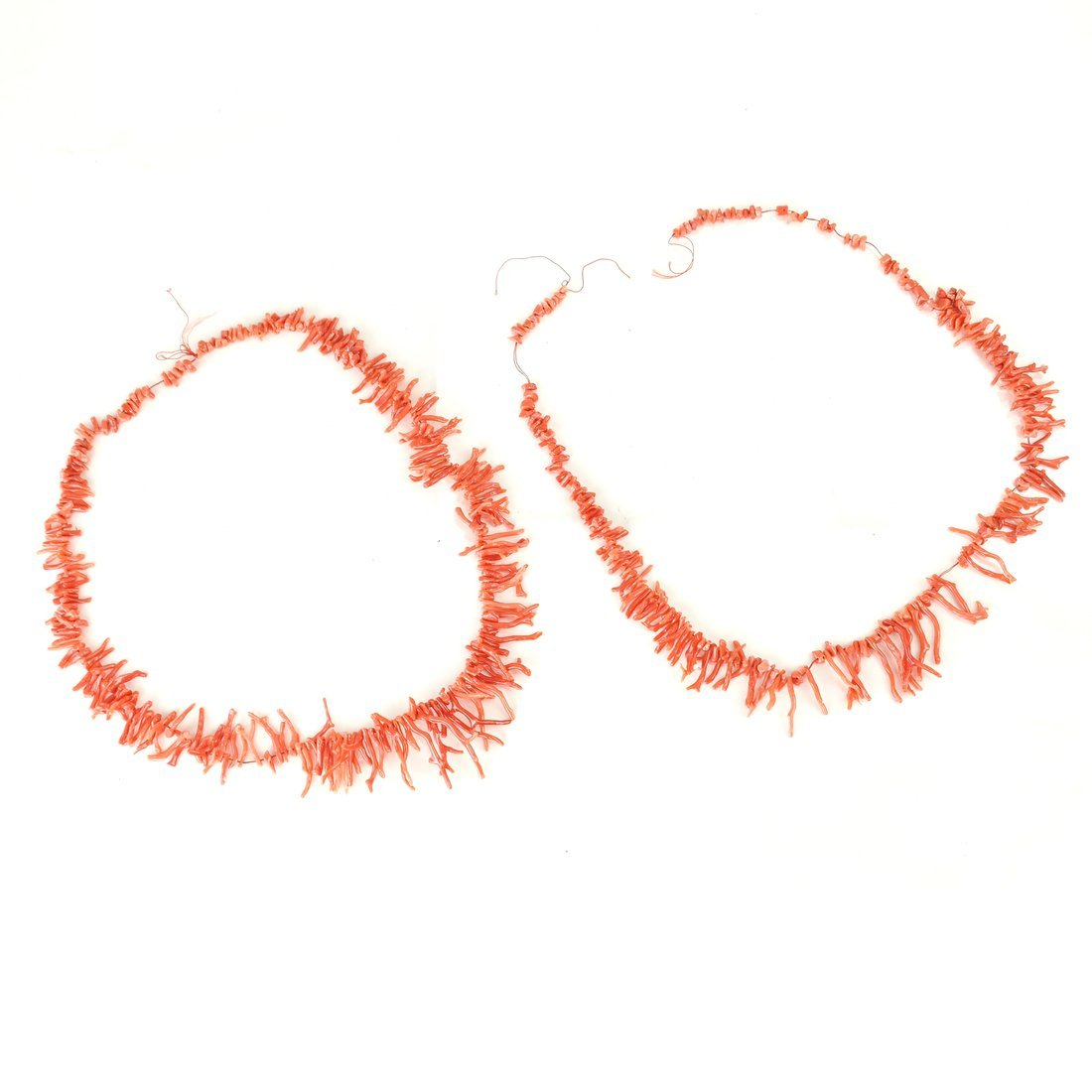 Two Strands of Oxblood Branch Coral - 5