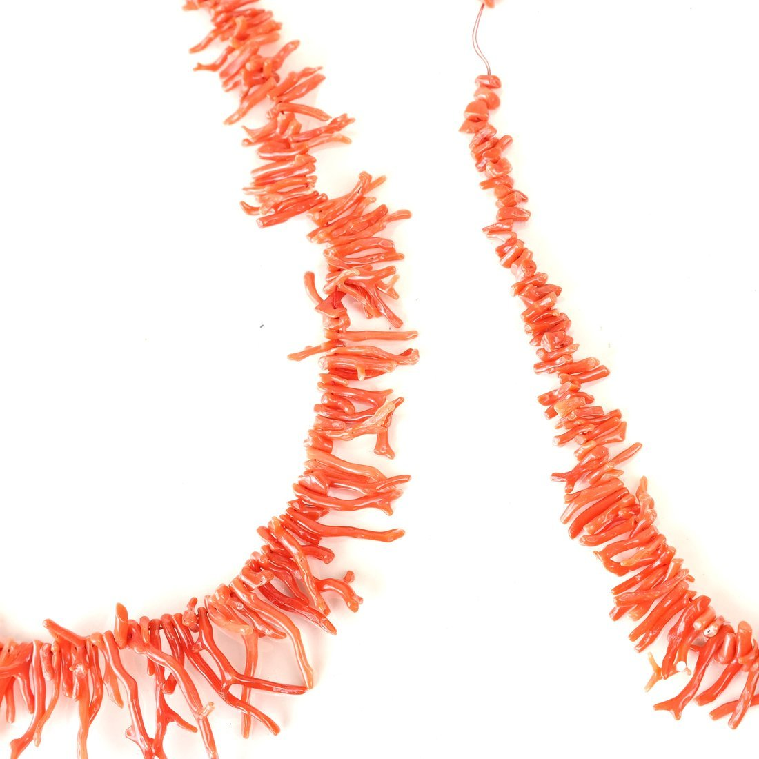 Two Strands of Oxblood Branch Coral - 7