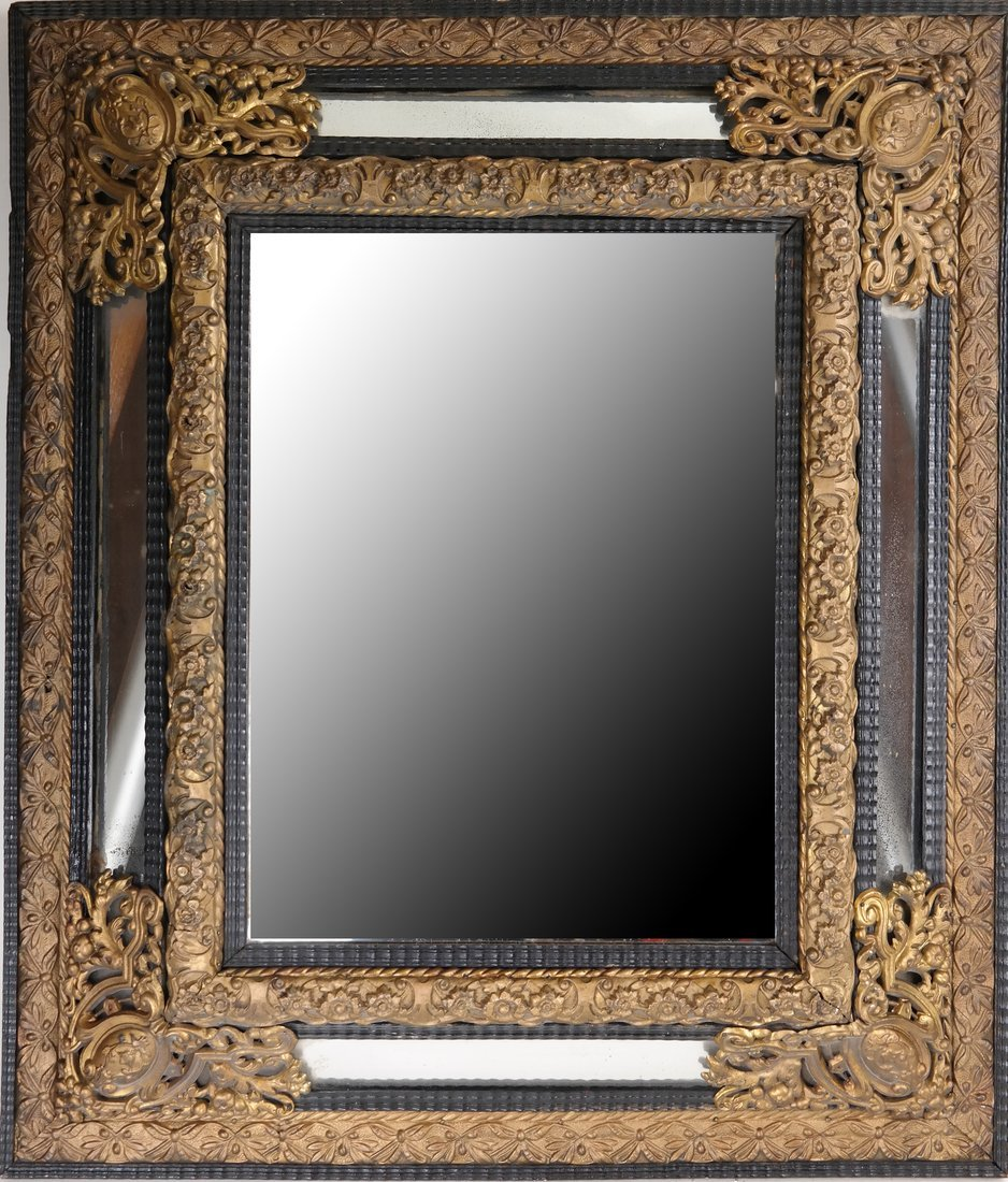 Dutch-Style Ornate Mirror