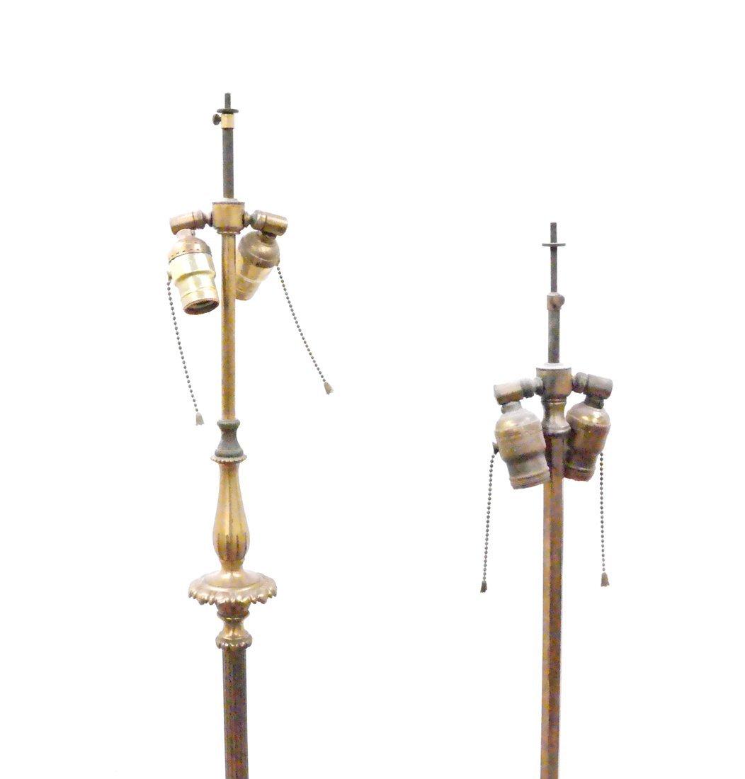Two Brass Tripod Floor Lamps - 2