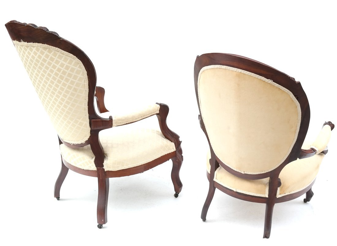 Two Victorian Armchairs - 9