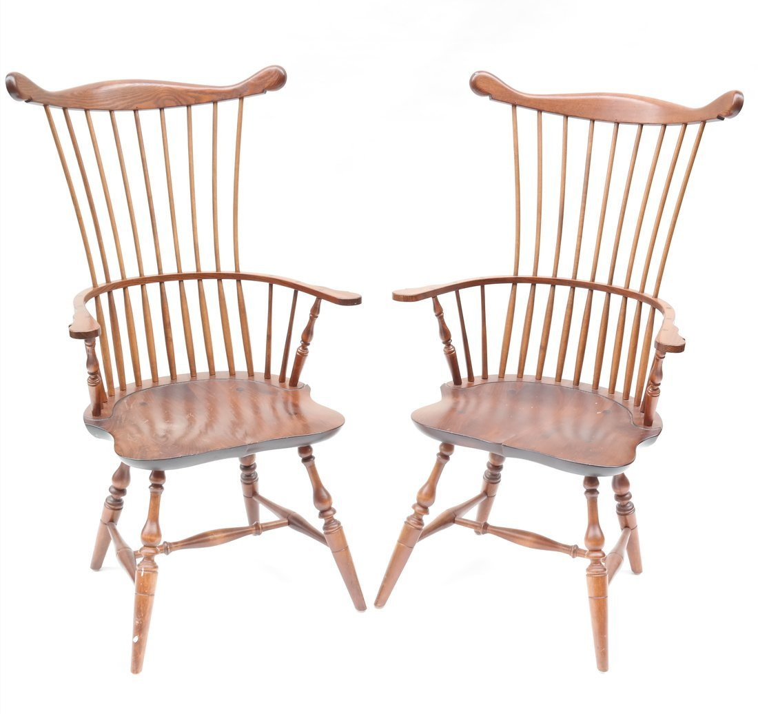 Pair of American Windsor Chairs