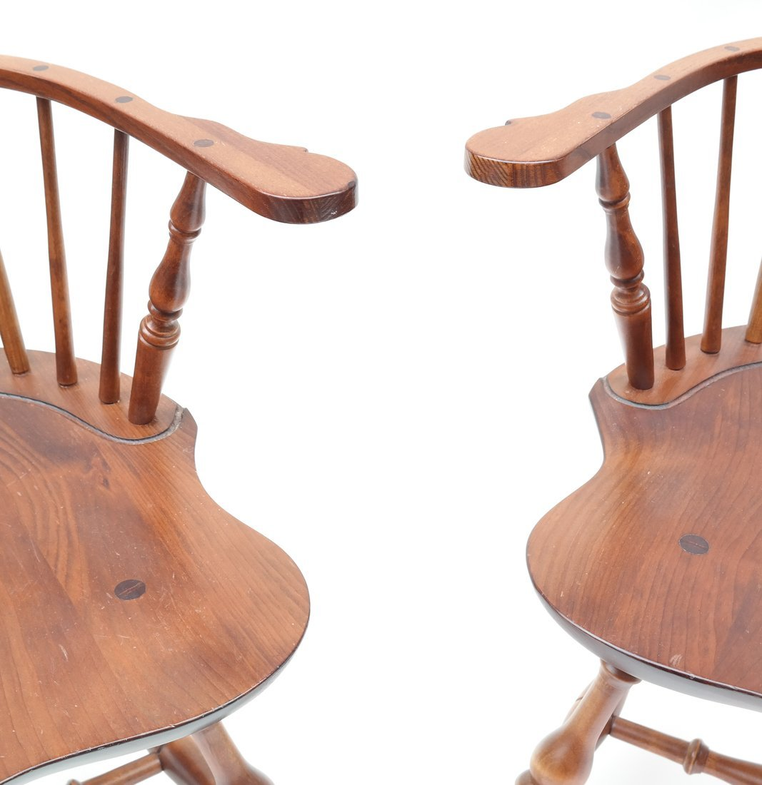 Pair of American Windsor Chairs - 3