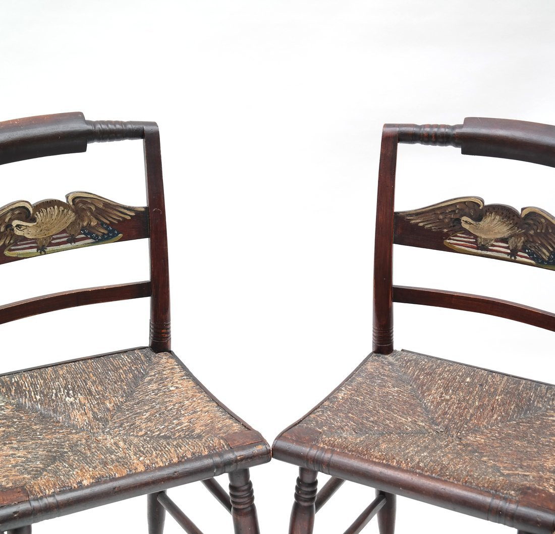 Four American Rush Seat Side Chairs - 3