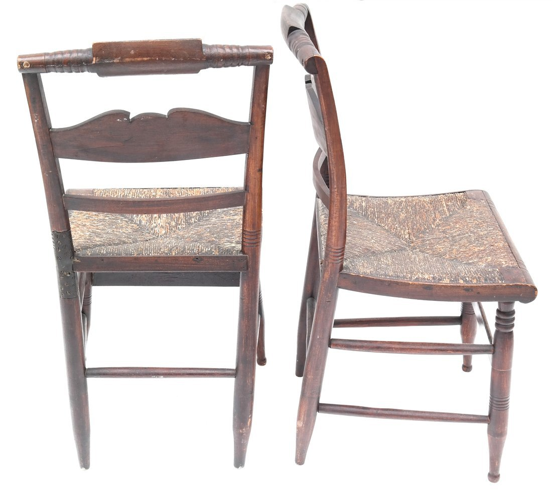 Four American Rush Seat Side Chairs - 6