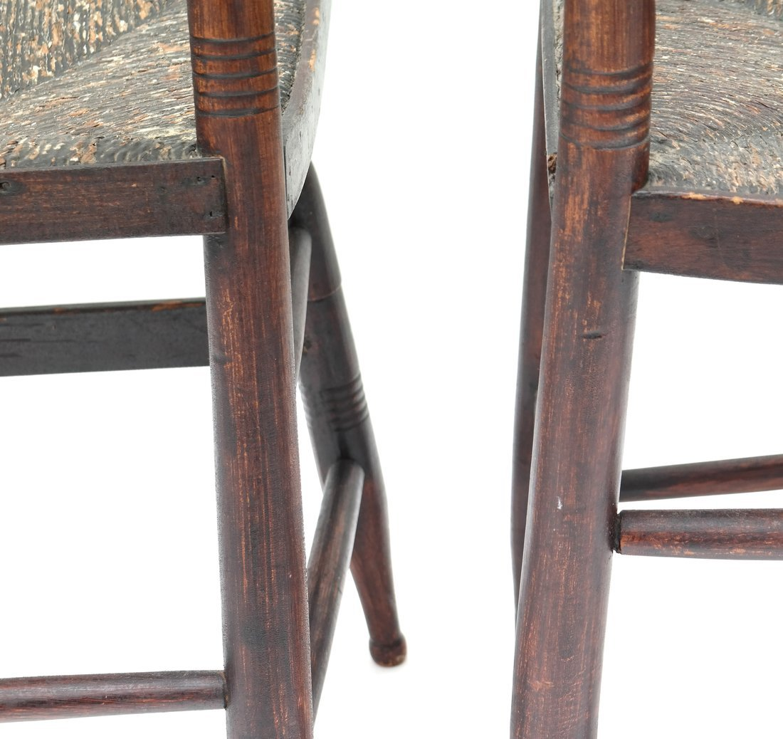 Four American Rush Seat Side Chairs - 8