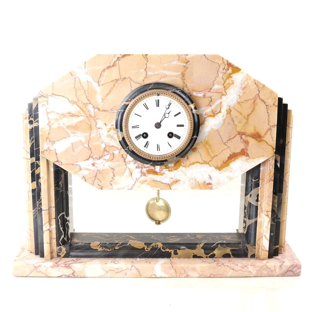 Art Deco-Style Marble Clock