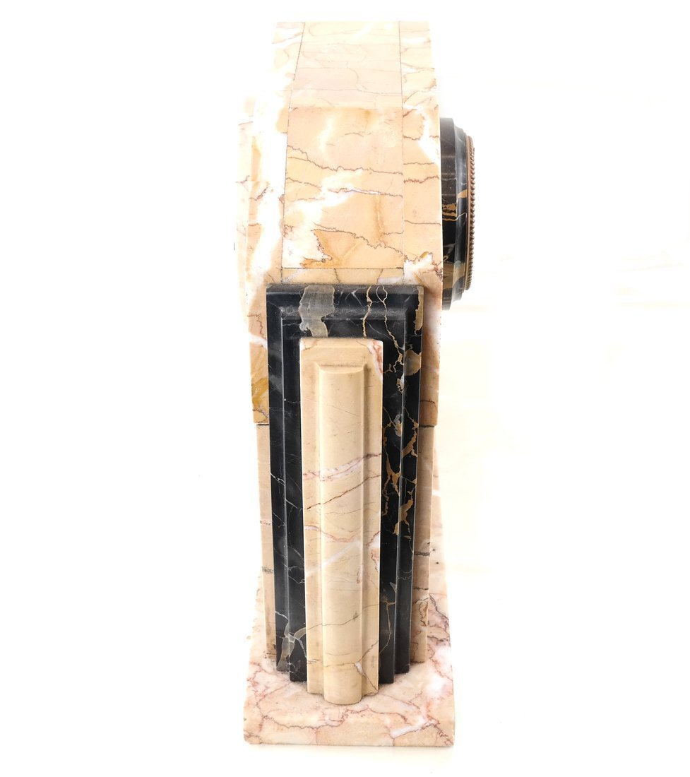 Art Deco-Style Marble Clock - 9