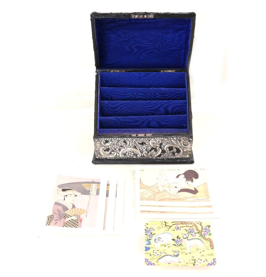 Three-Piece Silver Desk Set - 4