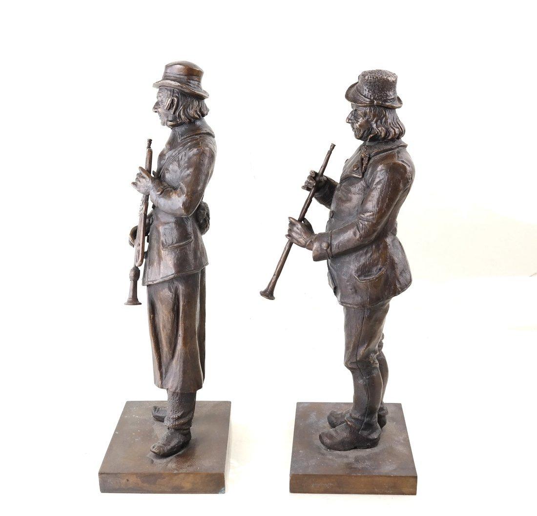 Pair of Bronze Musicians - 2