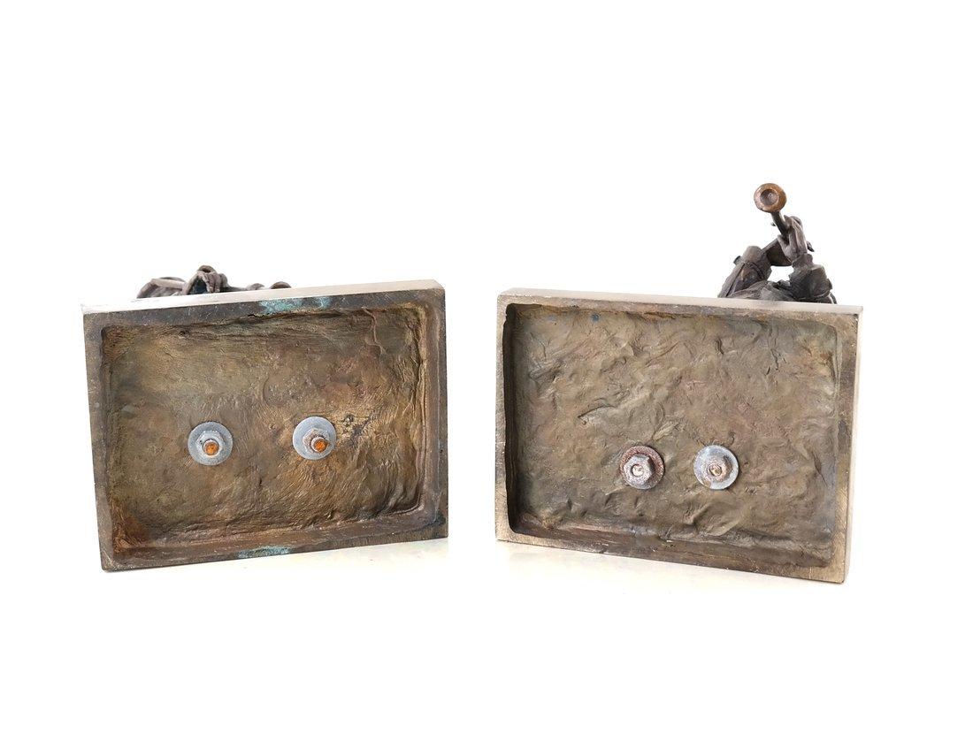 Pair of Bronze Musicians - 4