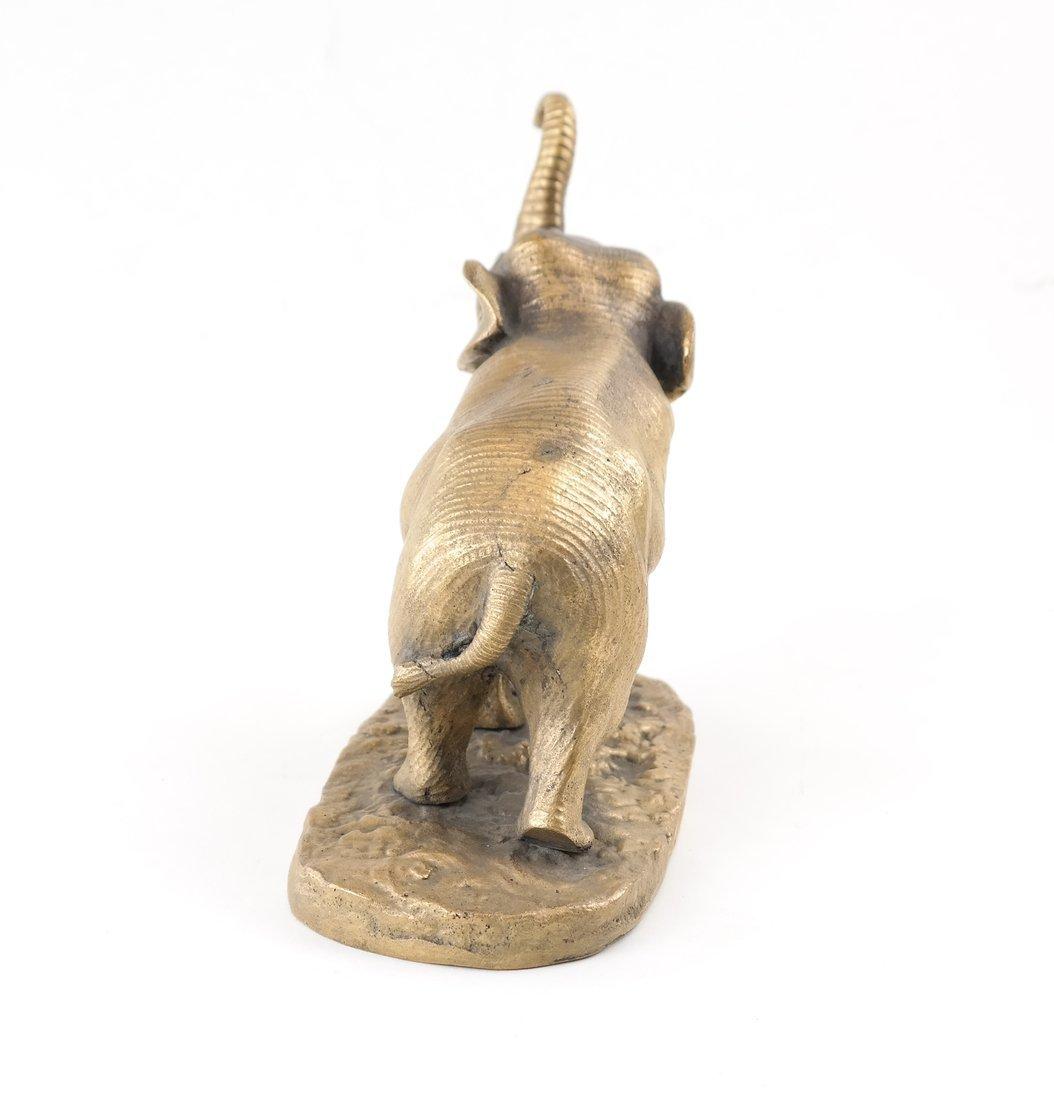 Gilt Bronze Elephant - 4