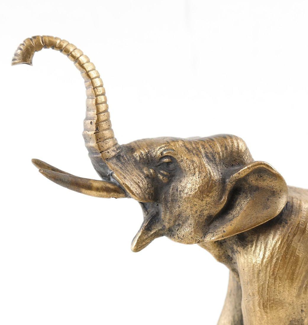 Gilt Bronze Elephant - 8