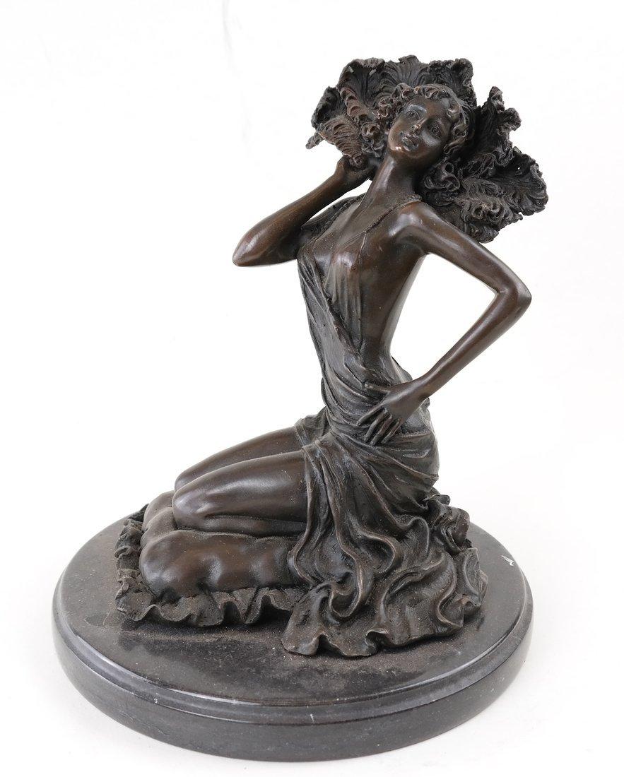 R. Colinet, Bronze Kneeling Woman