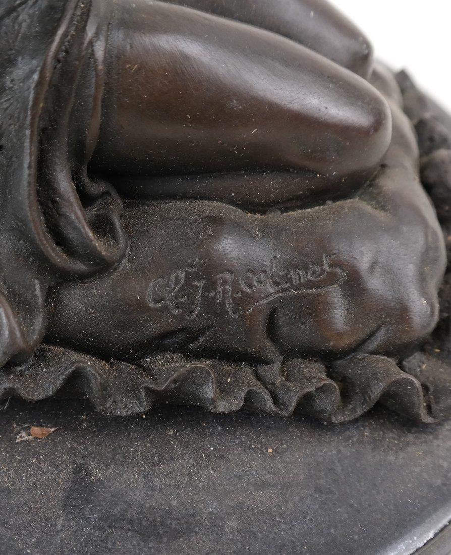 R. Colinet, Bronze Kneeling Woman - 3