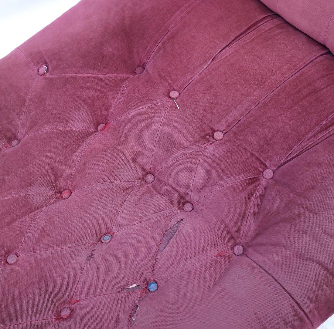 Victorian Oak Chaise Lounge - 5