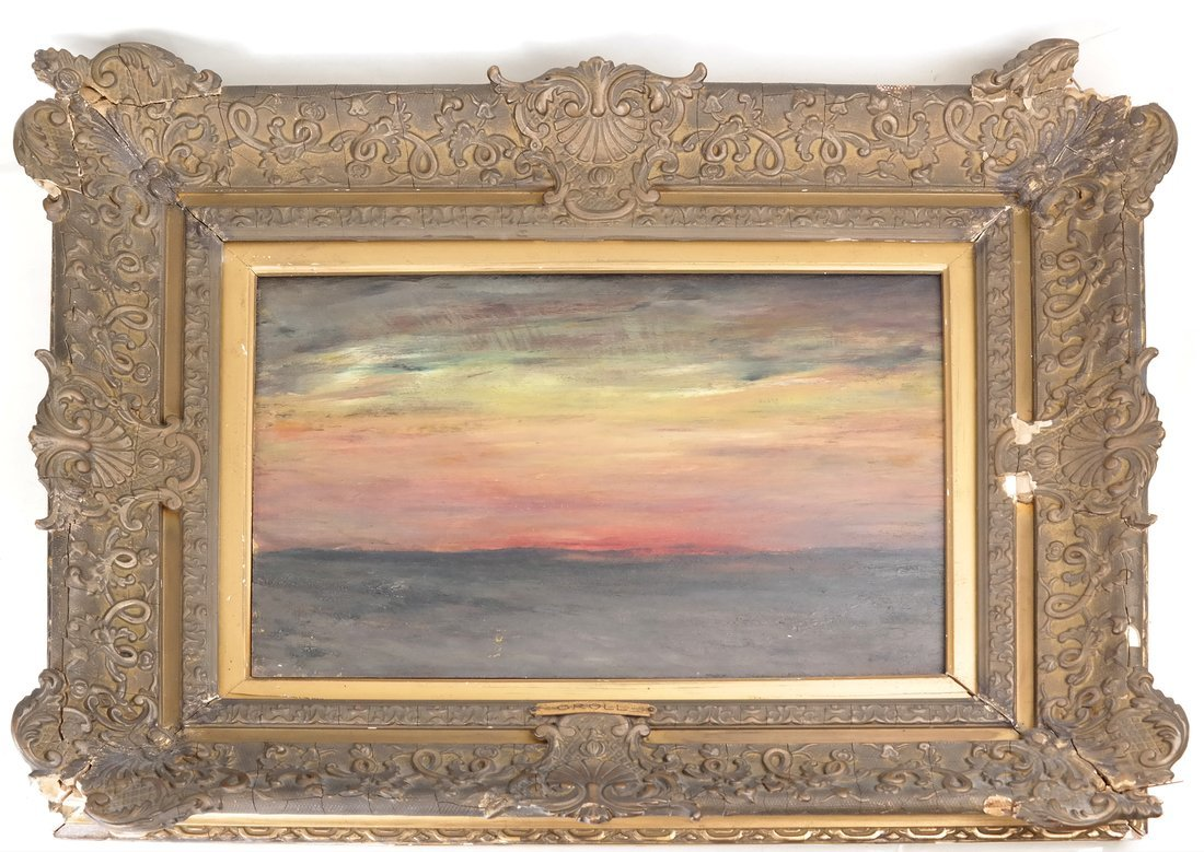 Albert L. Groll,  Sunset, Oil on Board - 2