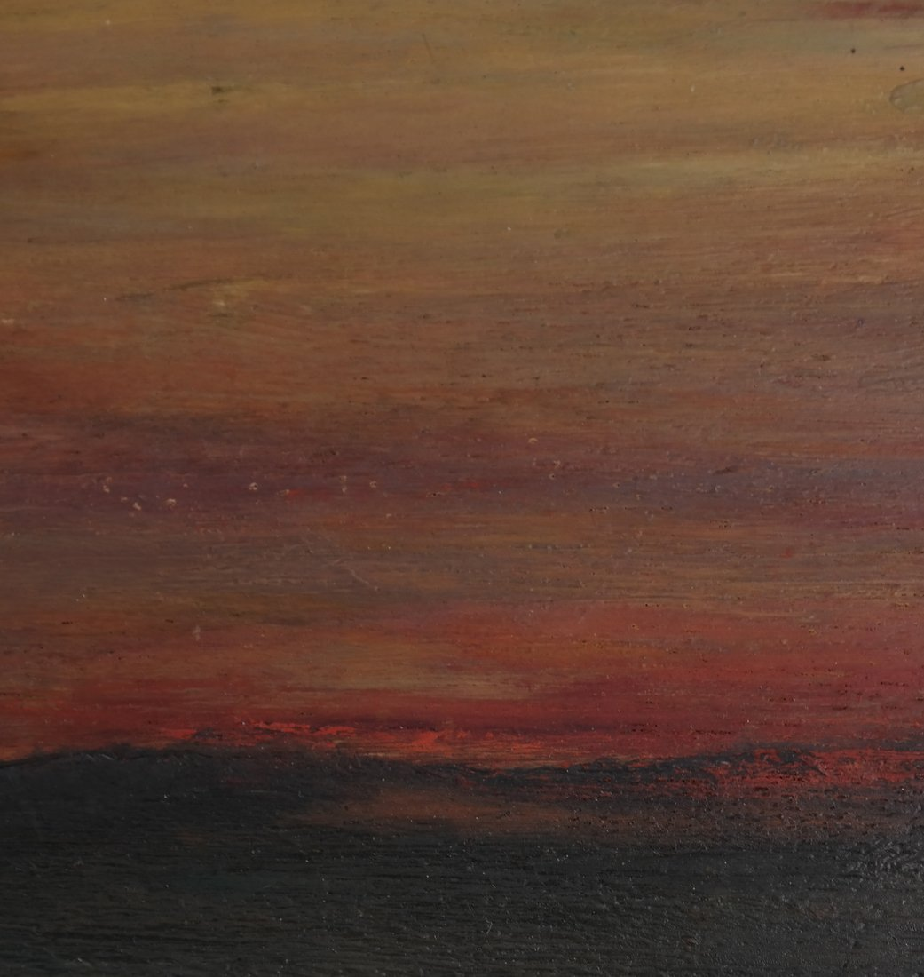 Albert L. Groll,  Sunset, Oil on Board - 5