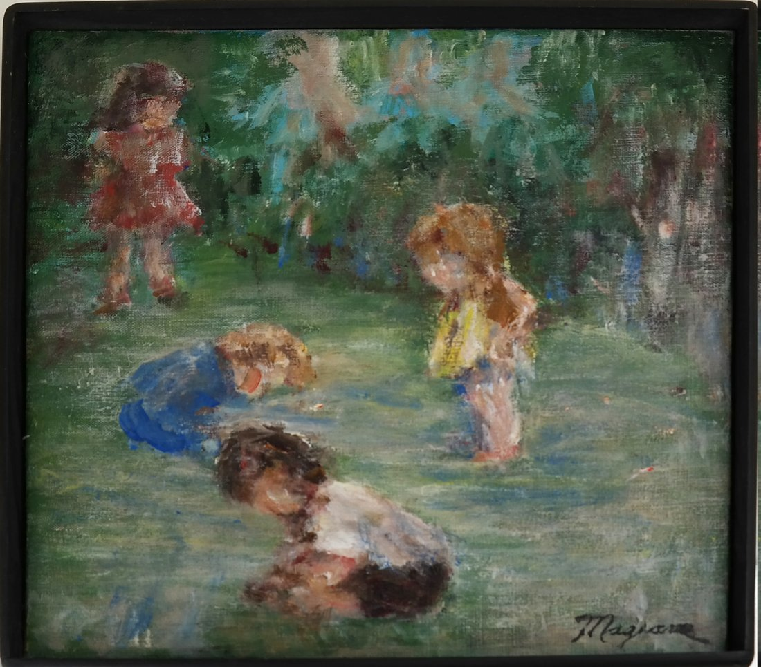 Children at Play, Oil on Canvas - 2