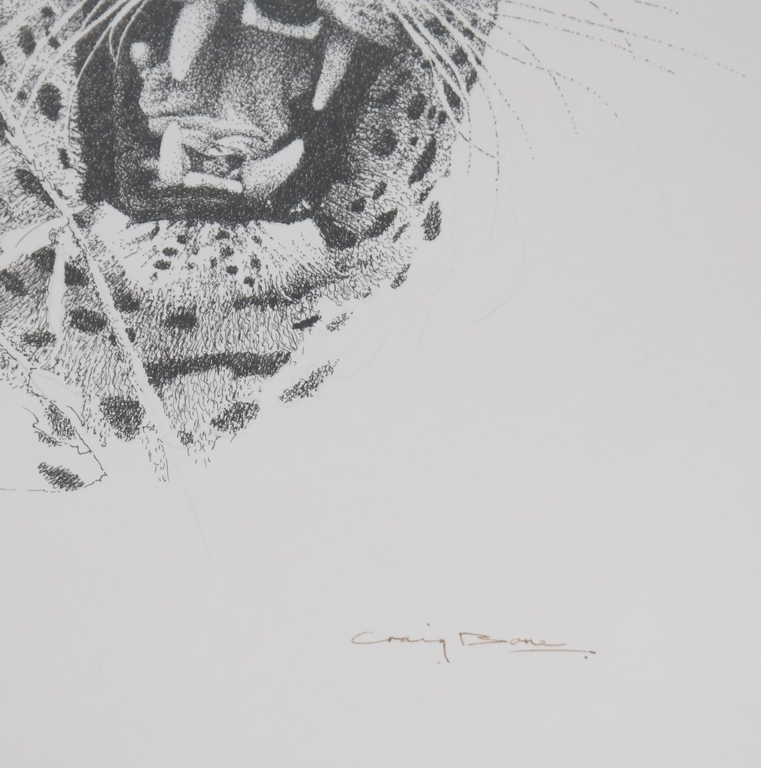Two Craig Bone Works: Tiger & Elephant - 4