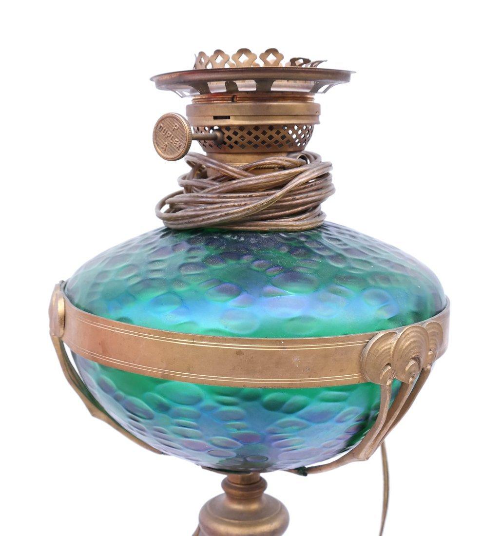 Deco-Style Bronze & Glass Floor Lamp - 2