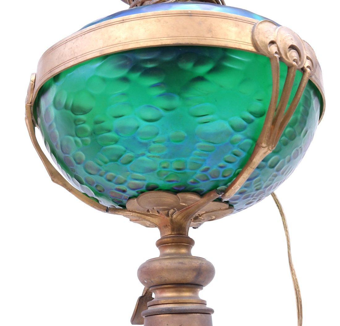 Deco-Style Bronze & Glass Floor Lamp - 3