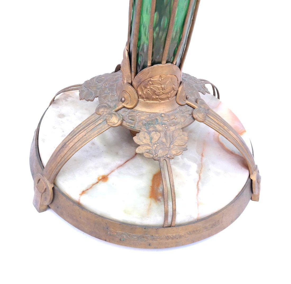 Deco-Style Bronze & Glass Floor Lamp - 5