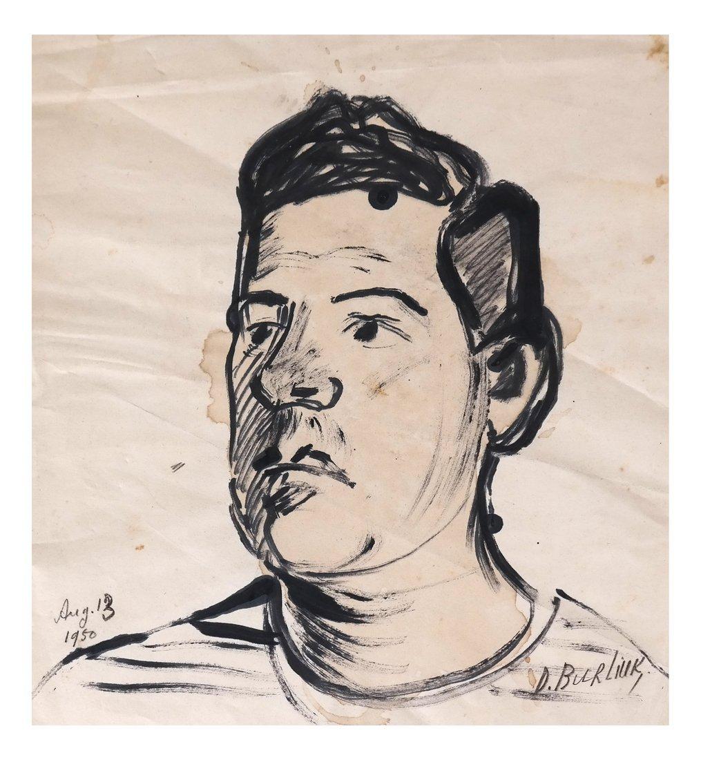 David Burliuk, Self Portrait