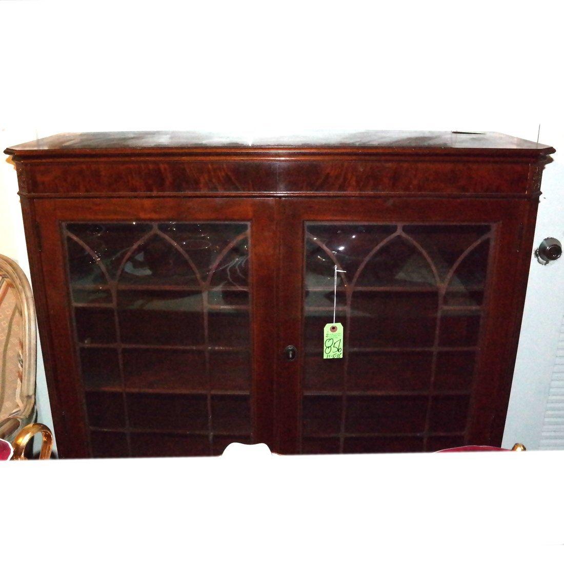 Antique Mahogany Bookcase - 2